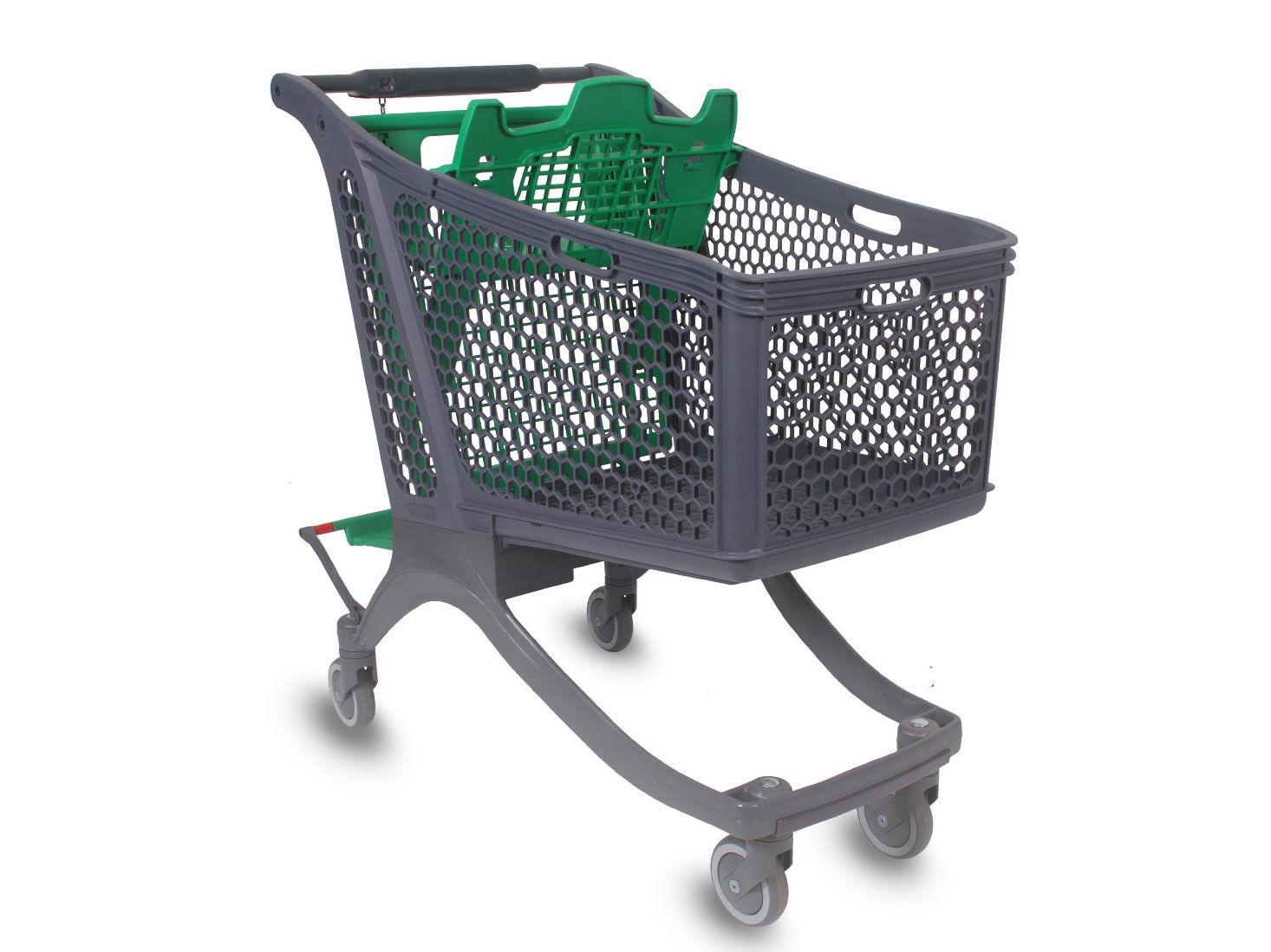 P180 plastic shopping cart , a comfortable and functional design of the Spanish company Polycart