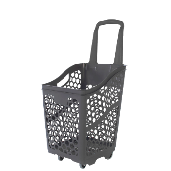 Eco-friendly supermarket shopping basket made from recycled plastic