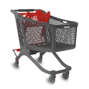 Plastic shopping carts manufactured in Spain by the company